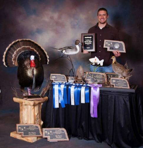 State award-winning taxidermy mounts in Nebraska, 2015